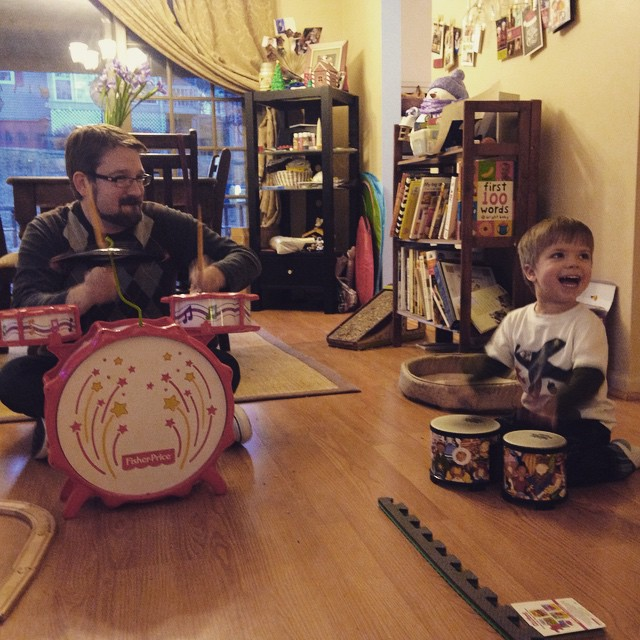 Wordless (and musical) Wednesday: Family/friend band #WordlessWednesday