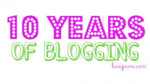 10 years of blogging! #10years #blogging #life