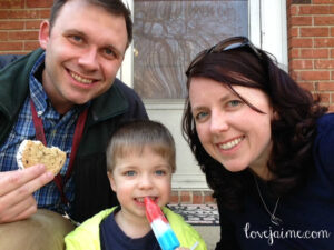 Wordless Wednesday: First ice cream of spring #WordlessWednesday
