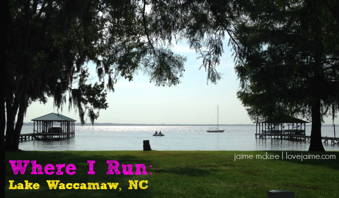Where I run: Lake Waccamaw NC #runningview #whereirun
