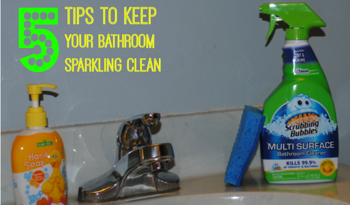 5 tips to keep your bathroom sparkling clean #savewithbubbles #CollectiveBias #ad