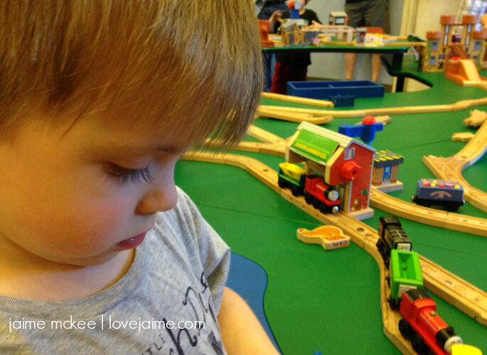 A little Thomas the Train fun at the Creative Discovery Museum