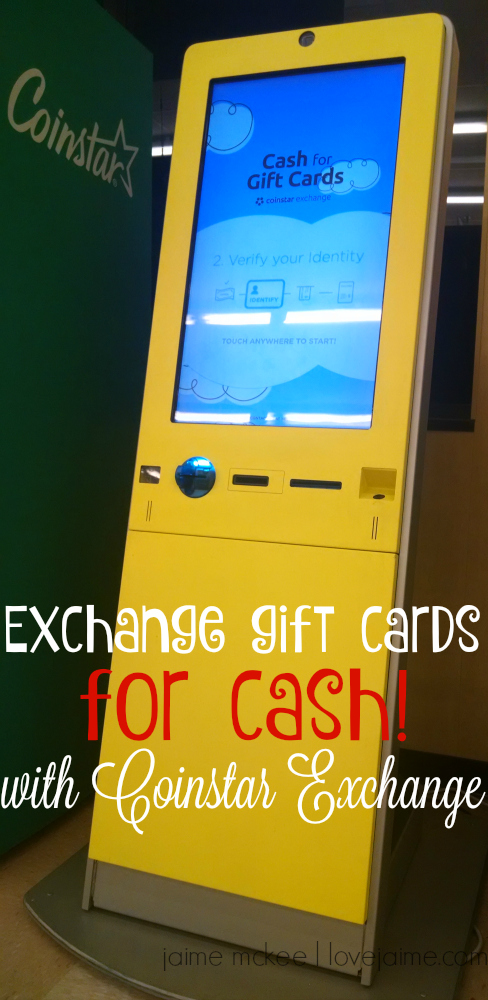Get cash in exchange for gift cards from Coinstar Exchange