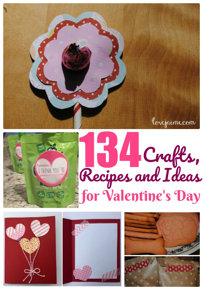 The ultimate Valentine's Day roundup! More than 130 recipes, tutorials, crafts, party ideas - and more - for the day. #ValentinesDay #diy #crafts