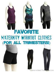 Favorite Maternity Workout Clothes