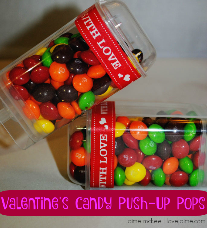 Valentine's Candy Push-Up Pops