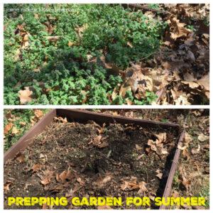 Garden preparations before summer