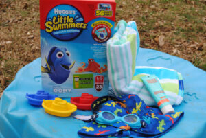 Create a stay-put beach towel for kids #SwimAdventureContest #CB @Huggies #ad