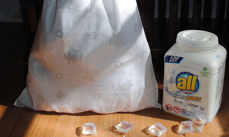 Save Time on Laundry & DIY Pillowcase Laundry Bag #allfreeclear #ad