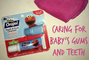 Caring for baby teeth and gums #Smilehood #ad