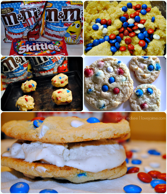 How to make this patriotic dessert (Red, White and Blue ice cream sandwiches)