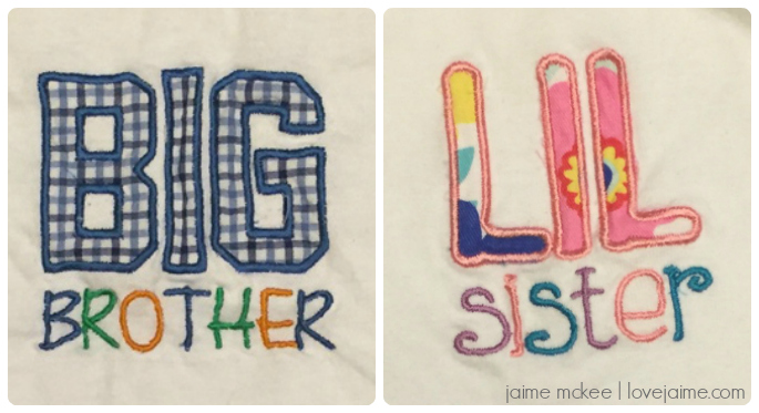 Completed project: Big Brother/Little Sister shirts! #diy #crafts
