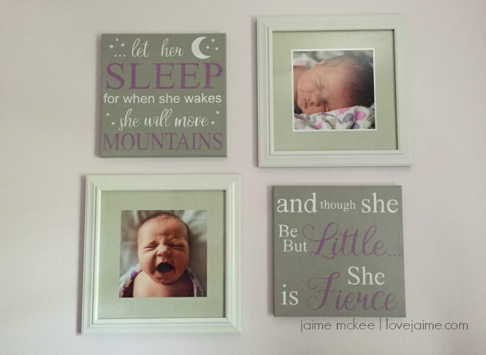 A nursery do-over: Baby girl nursery in lavender and gray