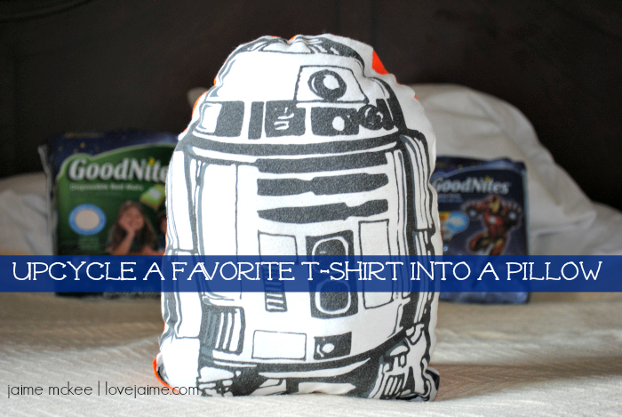 Rest easy with @GoodNites and this t-shirt turned pillow #RestEasySolutions #ad