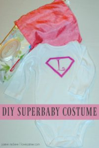 DIY Superbaby Costume for Baby's First Halloween!