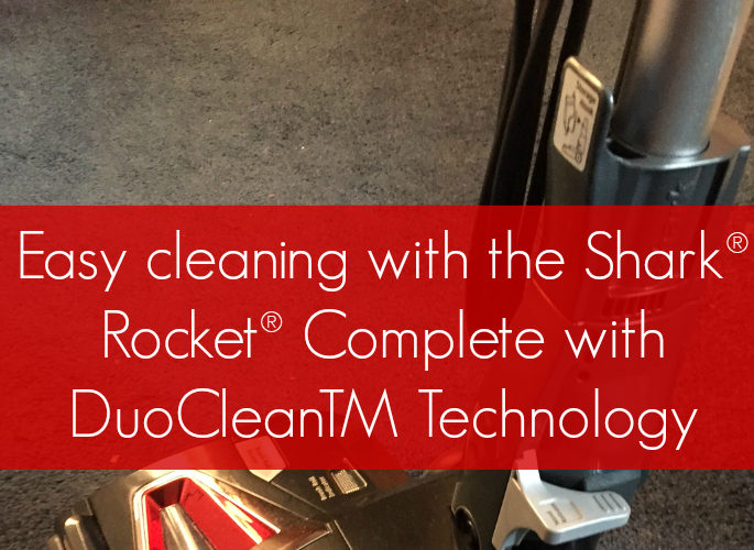 Easy cleaning with the Shark® Rocket® Complete with DuoCleanTM Technology #sponsored
