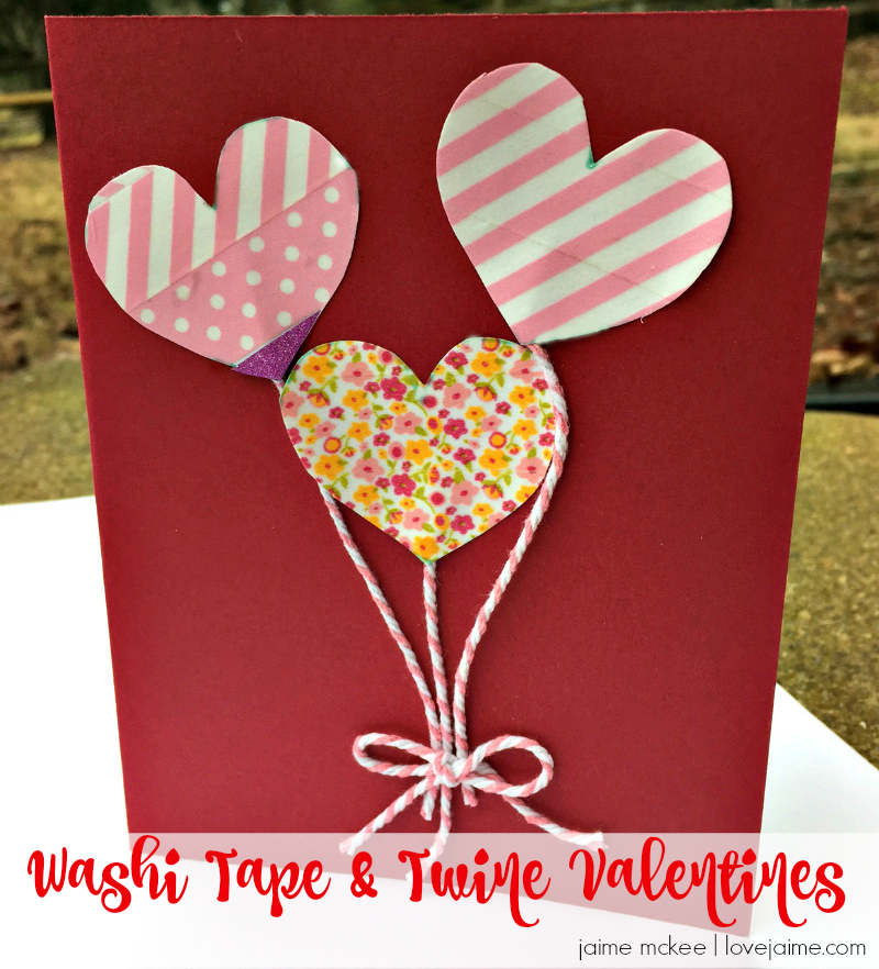 craft destash washi tape valentine cards - Photo Valentine Cards