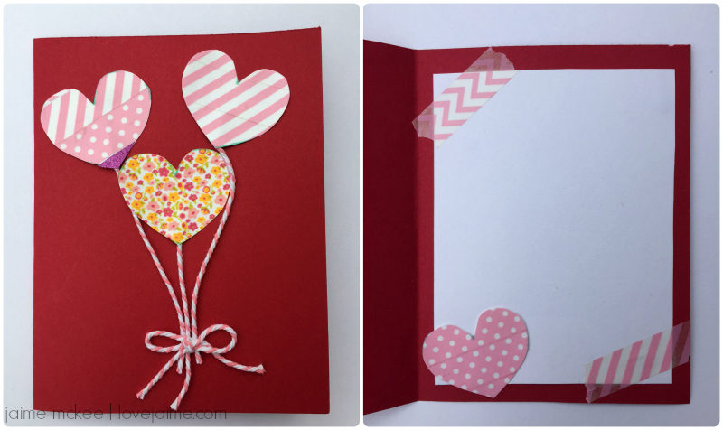 Craft destash: Washi tape Valentine cards
