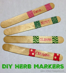 DIY Herb Markers (and other indoor activities to keep kids occupied during the rough weather)