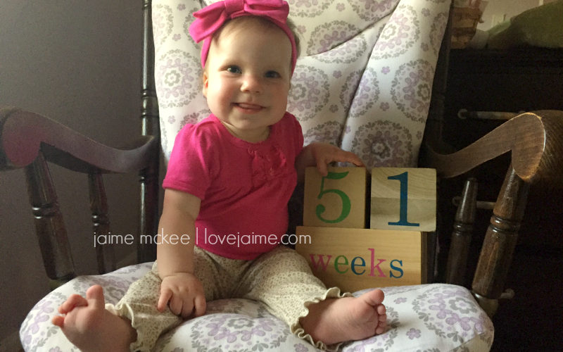 51 weeks {baby update}