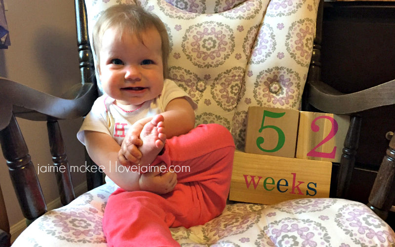52 weeks {baby update}