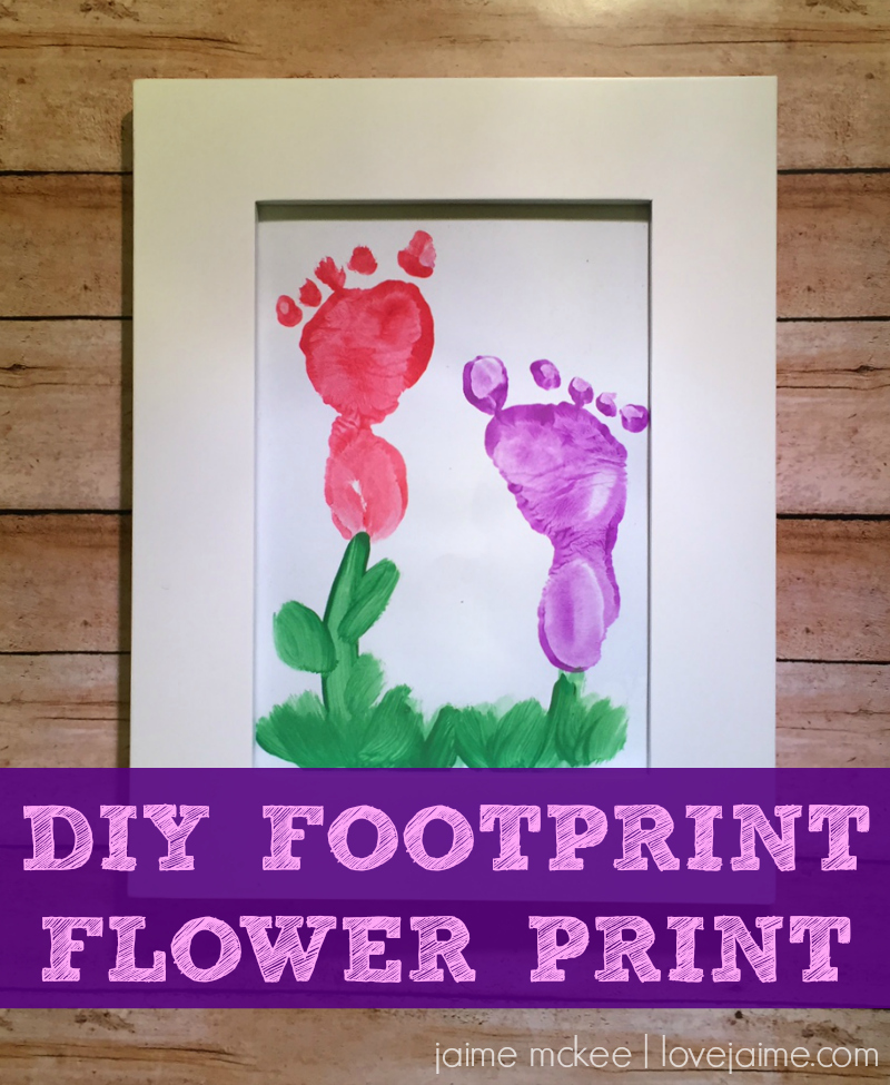 DIY Footprint Flower Art with your baby (and a preschooler!) Perfect for a Mother's Day craft.
