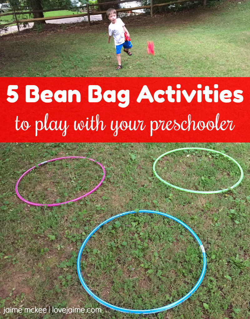 DIY bean bags and five bean bag activities you can play with your preschooler!