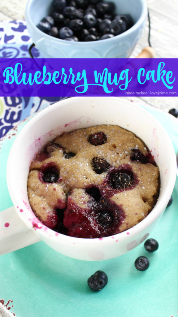 Blueberry mug cake is just what one person needs. It's a fun and easy treat you can make in the microwave!