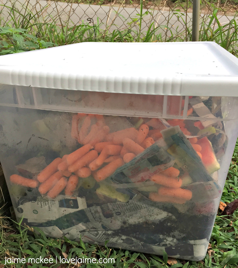 This DIY Compost Bin is simple to make with a few household items!