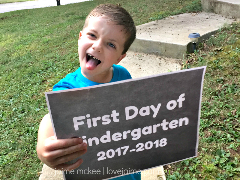 School days – My kindergartner!