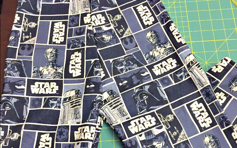 DIY (Easy Sew) Star Wars pajama pants!