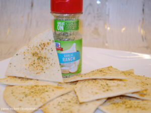 Baked Garlic Ranch Chips – ready in 10 minutes! #LeaveBlandBehind #ad