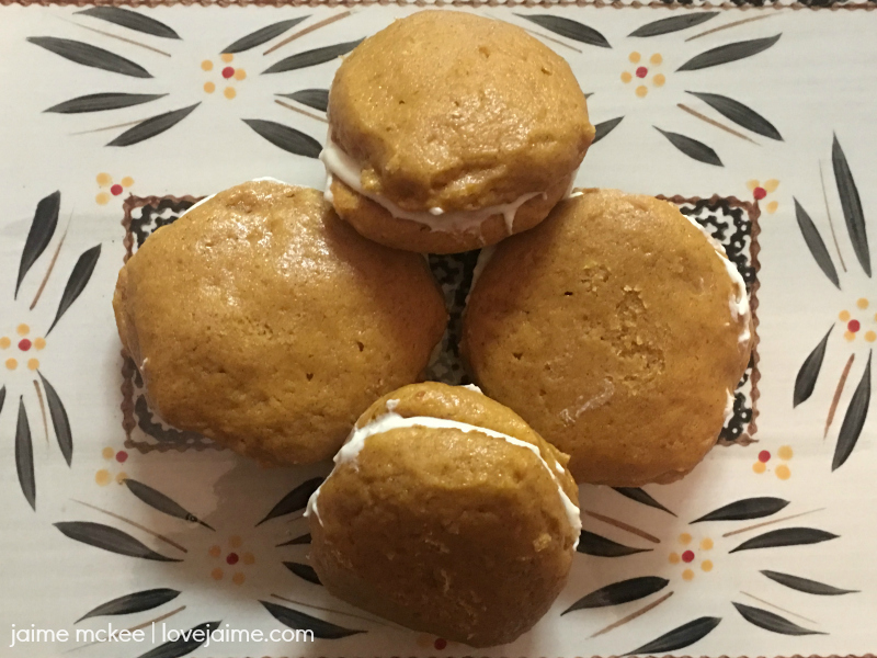 Recipe: Pumpkin Whoopie Pies – great for fall!