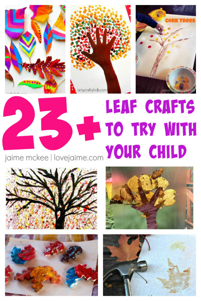 Roundup of fall leaves crafts and activities for younger