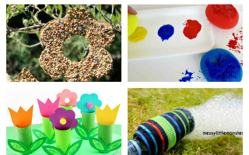Roundup of fall leaves crafts and activities for younger kids