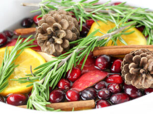 Christmas Crockpot Potpourri with fruit and essential oils