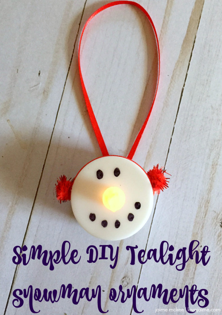 Tealight Snowman Ornaments A Fun And Inexpensive Craft Love
