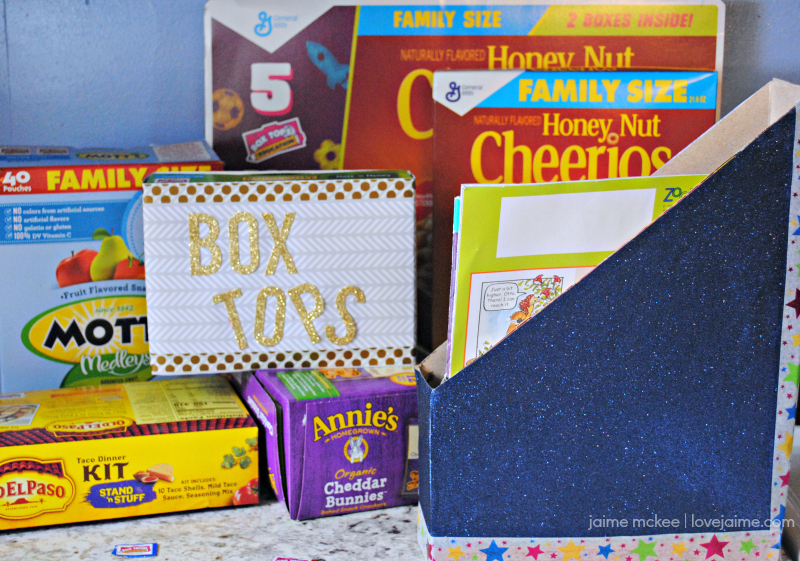 DIY Magazine Holder and Box Tops Storage #EarnWithBoxTops #ad