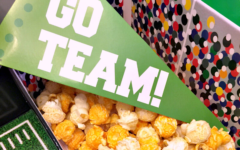 Get football-ready with G.H. Cretors popcorn!