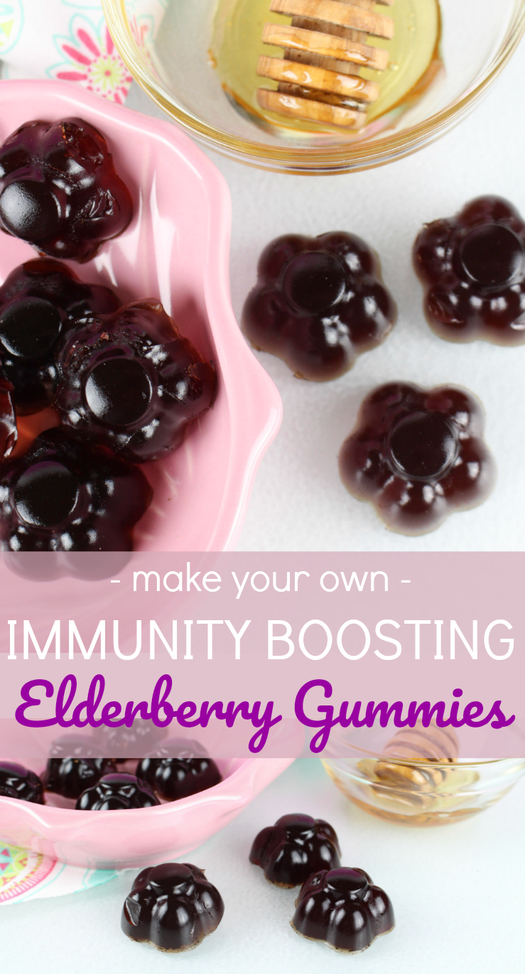 DIY Immunity Boosting Elderberry Gummies