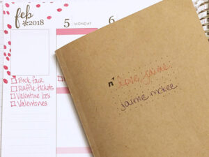 Plan with me: The start of February – and a little bit of bullet journaling!