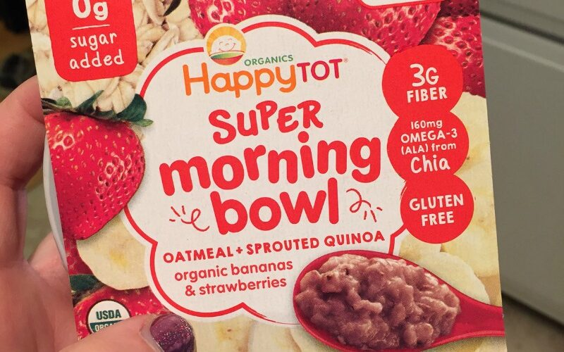 HappyTot Super Morning Bowls: Quick, easy and healthy option for toddler breakfasts #ThisIsHappy #ad