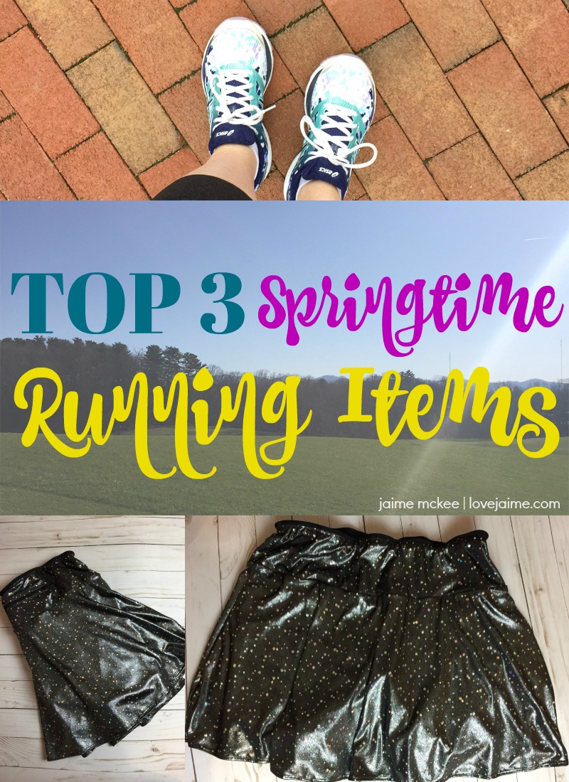 My top spring running gear - shoes, SparkleSkirts and RoadID keep me comfortable and safe during race season!