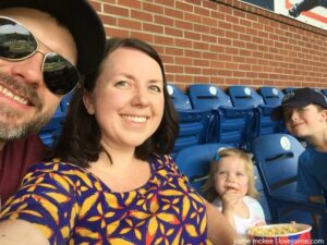 Take me out to the ballgame…my daughter's first baseball game!