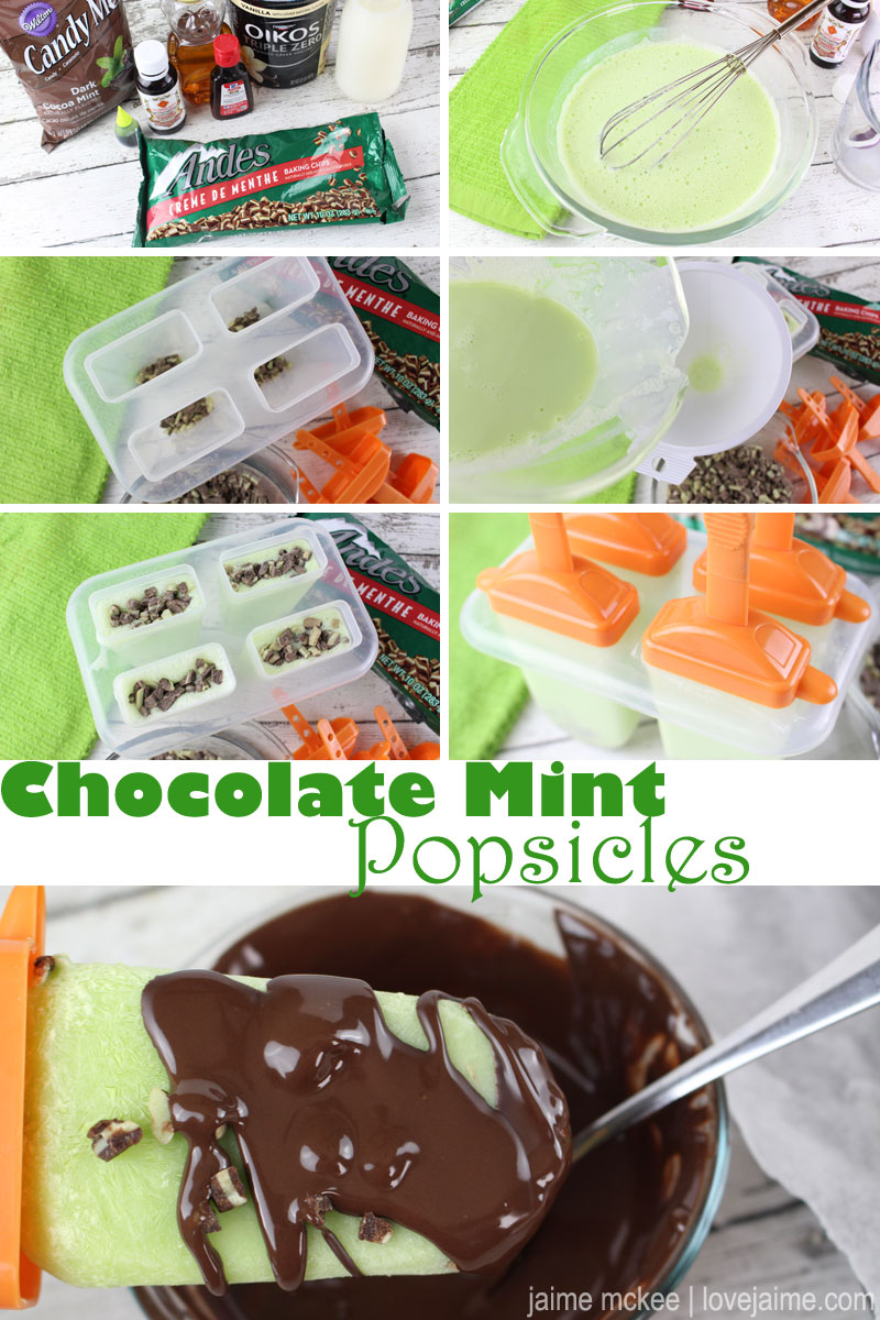 Chocolate Mint Yogurt Pops