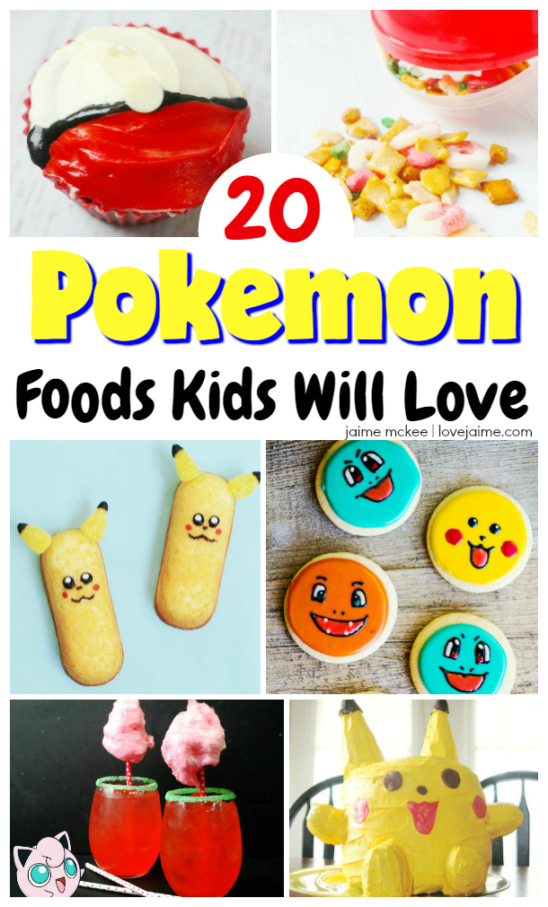20 Pokemon food options kids will love. These recipes and tutorials are perfect for a Pokemon party or playdate!