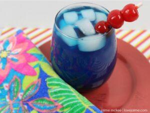 Blue Cherry Rum Lemonade - great for summer weekends