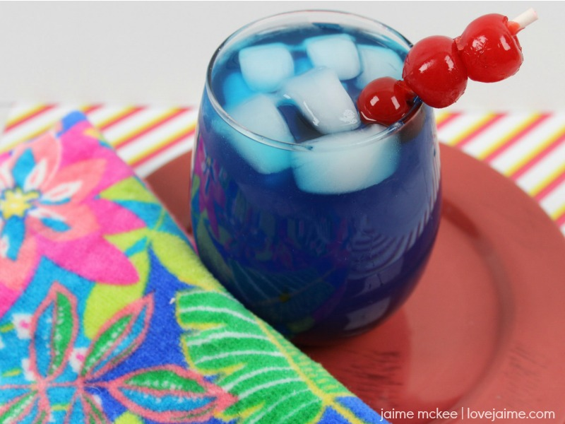 Cherry Blue Rum Lemonade Recipe