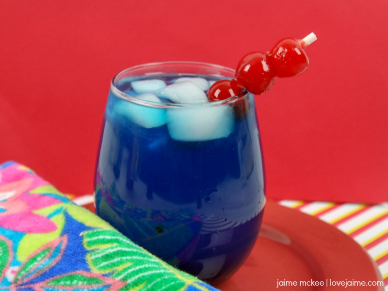 Cherry Blue Rum Lemonade recipe - great for summer weekends!