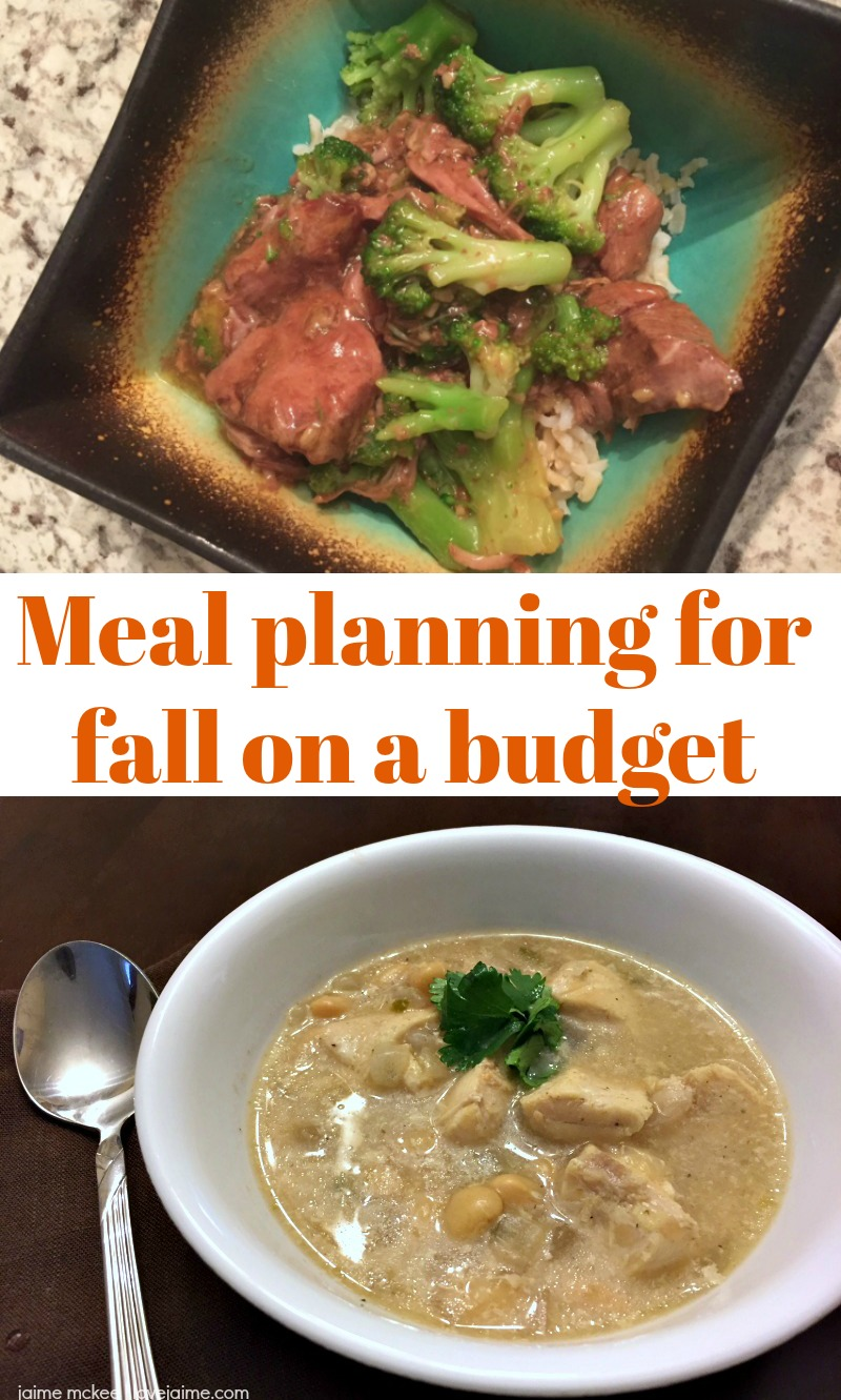 Meal planning for fall on a budget